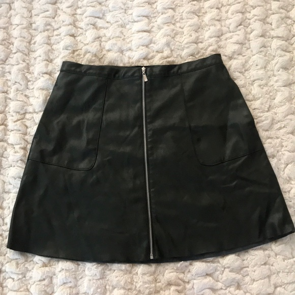 0f2f8634b Dynamite Skirts | Forest Green Faux Leather Pencil Skirt | Poshmark